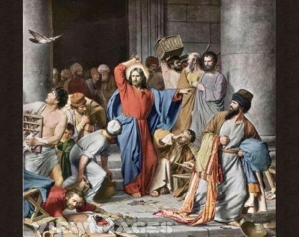 ΙΗΣΟΥΣ ΔΙΩΧΝΕΙ ΤΟΥΣ ΕΜΠΟΡΟΥΣ ΑΠΟ ΤΟΝ ΝΑΟ 1