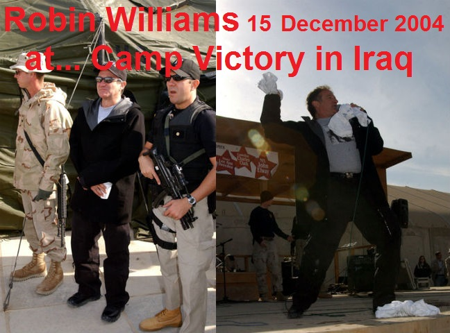 Robin Williams 15 ΔΕΚ 2004 at Camp Victory in Iraq