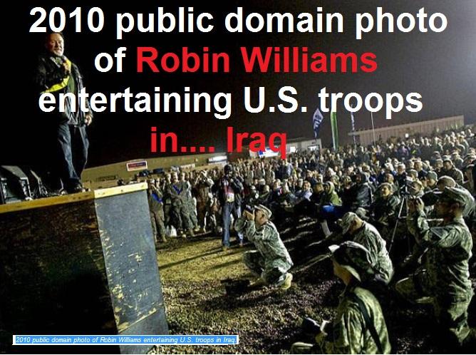 Robin Williams 2010 in Iraq